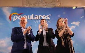 Casado en Logroño: «Que nadie experimente con su voto»