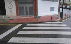 Tareas de pintado y rebaje de aceras en la ciudad de Haro