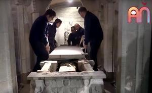 Los restos de Santo Domingo afloran para devoción popular