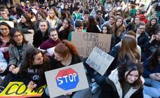 Concentración en Logroño en el llamado 'Fridays for Future'