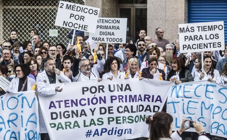 Manifestación de la Atención Primaria en Logroño