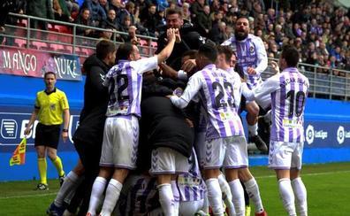 El Valladolid remonta sobre la bocina