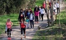 Unas 1.500 personas participan en el primer paseo saludable