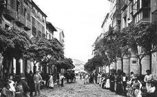 Vista de la calle Grande de Calahorra