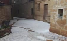 El granizo descargó el sábado con fuerza en La Rioja Alta