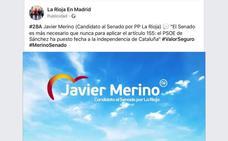 La Junta Electoral ordena el cese de una campaña del PP riojano en redes