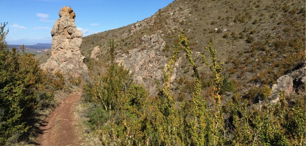 Senda del Monolito o del Fraile desde Logroño