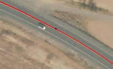 Dos heridos tras salirse con su coche de la vía y volcar en la N-232 en Murillo