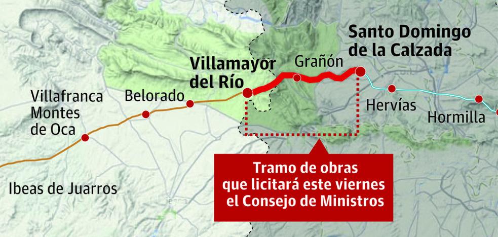 El Gobierno prevé aprobar este viernes la licitación de 14,6 kilómetros de la Autovía del Camino desde Santo Domingo