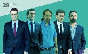 El currículum de los candidatos a la Moncloa