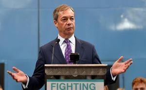 El eurófobo Nigel Farage amenaza con una «revolución británica» en las urnas