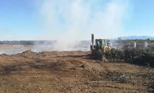 Extinguido el incendio en el monte La Plana en Alfaro