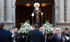 La procesión del Viernes de Dolor en Logroño