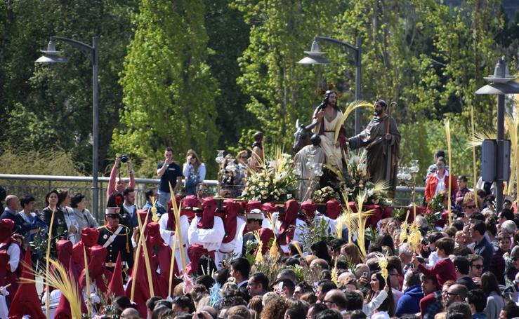 Celebración del Domingo de Ramos en Calahorra