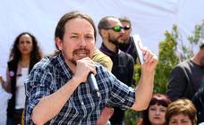 Acto electoral de Pablo Iglesias en Nalda