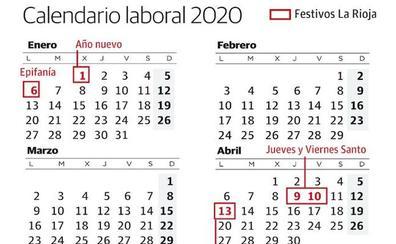 Calendario Laboral 2020 Sevilla.Calendario Laboral La Rioja