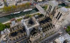 La imagen aérea de Notre Dame tras el incendio en 360º
