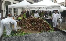 Arnedo comparte su tradición a pesar de la lluvia