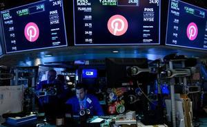 Pinterest se dispara en su debut en Wall Street