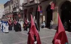 Procesión en Calahorra dedicada a las mujeres maltratadas