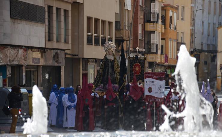 Procesión de la Soledad de María en Calahorra