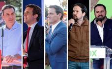 Cinco candidatos en un pañuelo