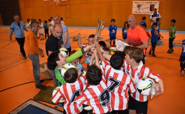 XVI trofeo fútbol sala Pequeñín de la Peña Calahorrana Athletic Club de Bilbao