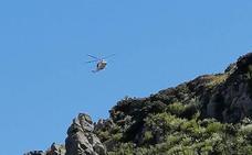 Rescatado un hombre herido en Peña Bajenza