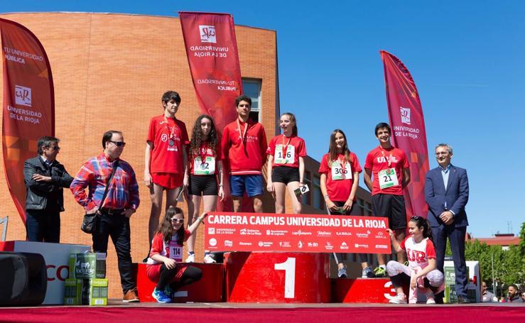 Prueba familiar, podios y el avituallamiento en la Carrera Campus de la UR