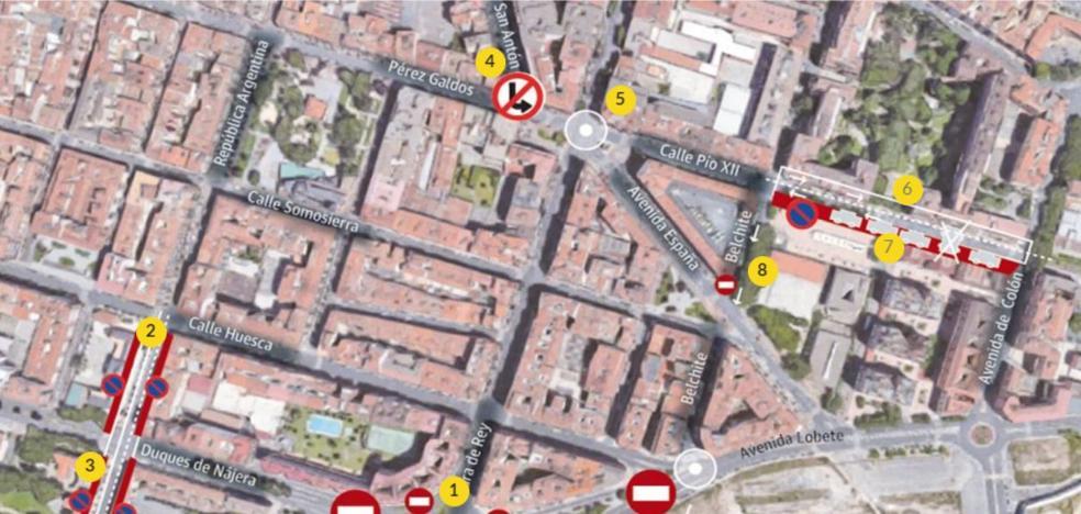 Mapa interactivo: así quedan las calles tras el corte del túnel de Duques de Nájera