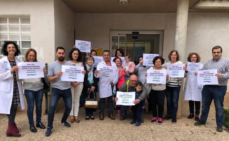 Protestas de los médicos y pacientes en los centros de salud riojanos