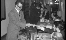 Votando en Logroño en la Transición