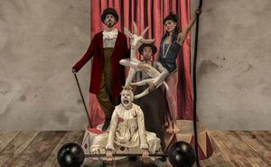 El circo con canto lírico de La Maquiné, 'Acróbata y Arlequín', esta tarde en el teatro Bretón