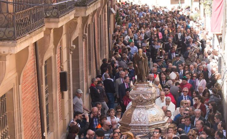 Santo Domingo celebra el 'Almuerzo del Santo' y la procesión del Santo