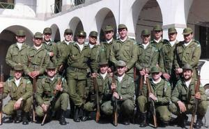 Soldados del cuartel de Logroño