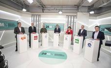 La otra cara del debate de los candidatos a la Alcaldía de Logroño en TVR