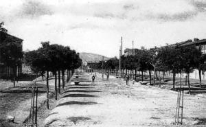 La Retina: vista antigua del Mercadal de Calahorra