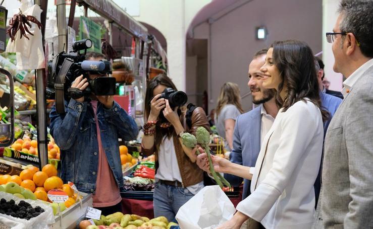 Inés Arrimadas, la número dos de Ciudadanos, visita Logroño