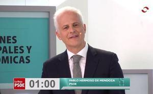 Minuto final de Pablo Hermoso de Mendoza (PSOE)