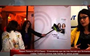 Raquel Romero defiende la coalición de Unidas Podemos, IU y Equo