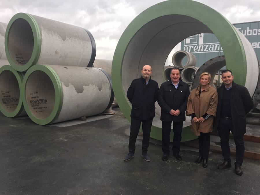Arenzana Prefabricados trabaja en la canalización subterránea bajo el Garonne, en Burdeos