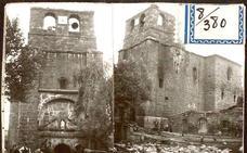 El fuego que destruyó la iglesia de Mansilla