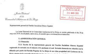 El PP, obligado a retirar unos vídeos electorales con imágenes del Gobierno de La Rioja