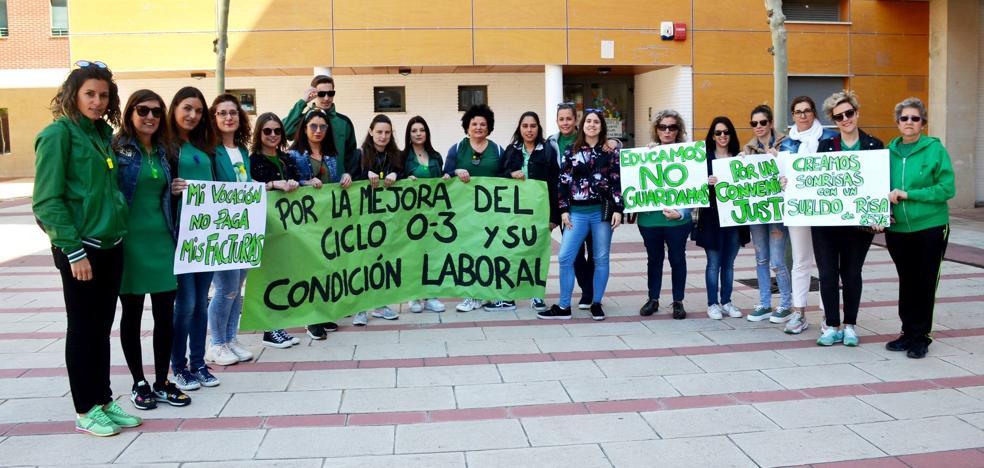 La huelga de guarderías, mayoritaria en los centros municipales