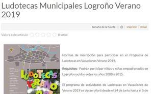 El Ayuntamiento rectifica y admite a los nacidos en 2008 en las ludotecas de verano