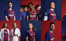 El Barça lanza su nueva camiseta, a cuadros en vez de a rayas
