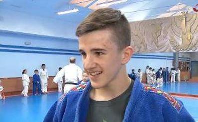 Alberto se prepara para el campeonato de España de judo