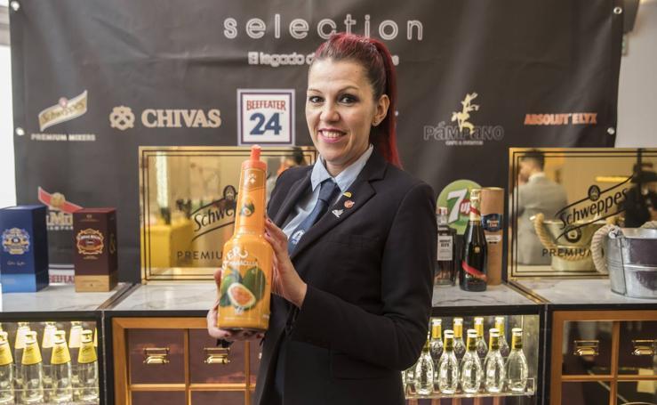 Nuria, del bar vegano El Arao, de la calle Padre Marín de Logroño, gana el concurso de cócteles de La Rioja