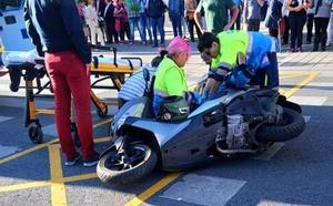 Herida una motorista de 24 años en el centro de Logroño