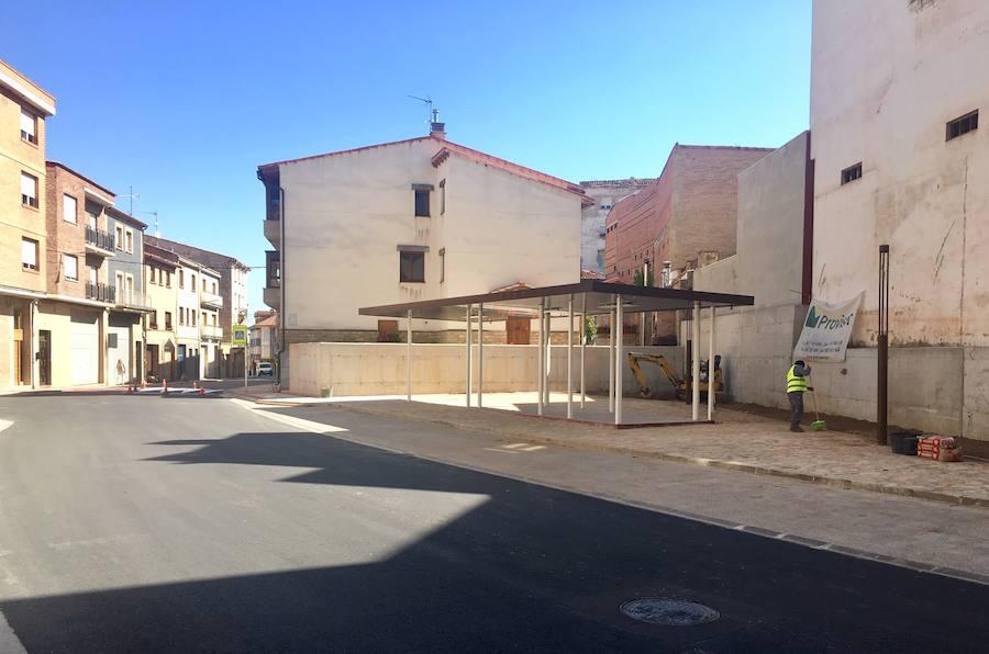 La nueva terminal de autobuses de Albelda, a punto para su funcionamiento